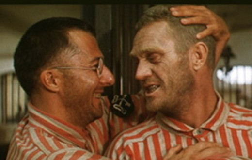 Dustin Hoffan and Steve McQueen in Pappion