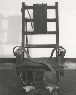 Here is a photo of the Electric Chair at Sing Sing Prison where Albert Fish was executed for the murder of 10 year old Grace Budd.
