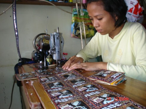 A home industry of making various plastic accessories has supported the family income.