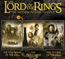 About $10 for all three LOTR movies