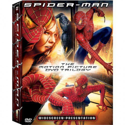 About $10 for all three Spiderman movies