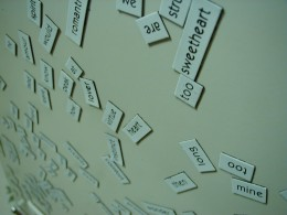 Poetry slams bring the words off the page... or the refrigerator.  (Photo by Gary DuVall)