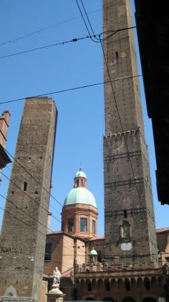 The city of Bologna is famous for its towers.