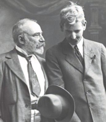 JF Archibald (Left), one of the founders of The Bulletin, with poet Henry Lawson