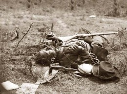 The Dead of Spotsylvania Battle, by Mathew Brady