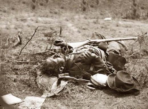 The Dead of Spotsylvania Battle, by Mathew Brady