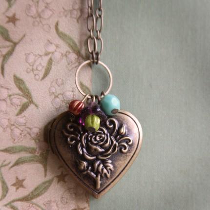 Heart Rose Locket