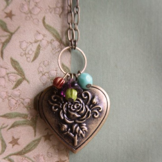 Heart Rose Locket