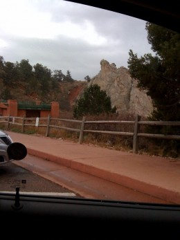 Entering the Garden of the gods.