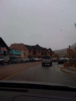 Manitou Springs.  Notice the shops along the road.