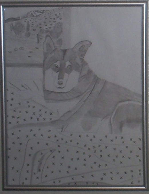 Here is a sketch I created of Lady dog in 2007.