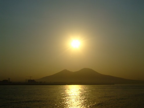 Vesuvius still dominates  (photo by Felice Romano)