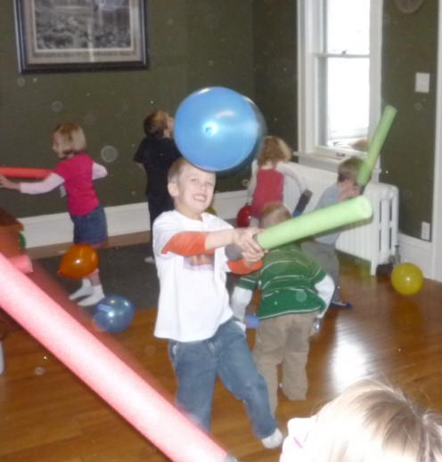 Light Saber Training with Balloons