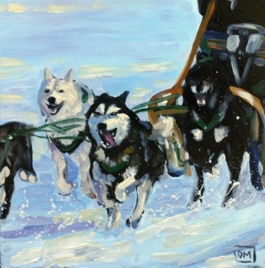 Follow The Leader, painted by Debbie Miller.