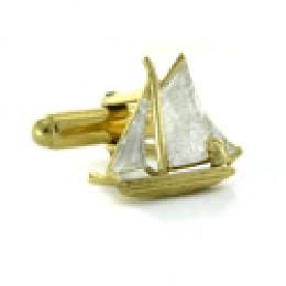 elegant sail boat cuff links