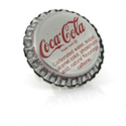 coca cola whimsical bottle cap cuff link