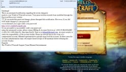 World of Warcraft Phishing Scam