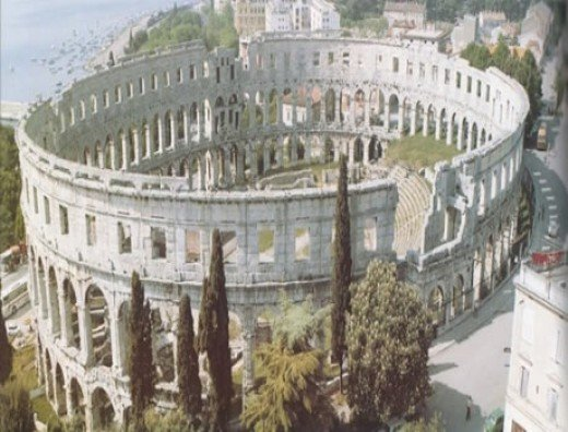 Pula,Croatia, old Roman Amphitheater from 1st century