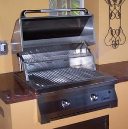 "built in 30"" infrared bbq"
