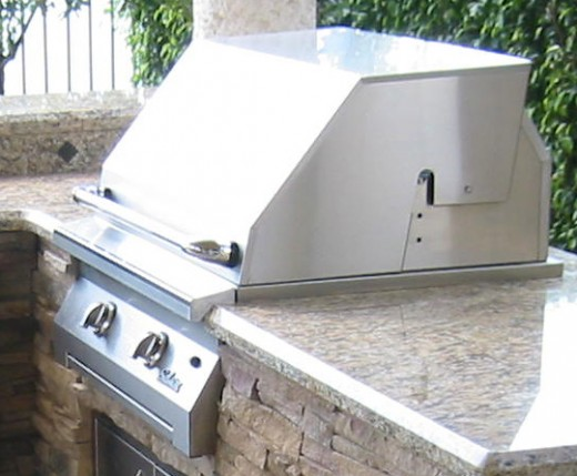 built in infrared gas grill