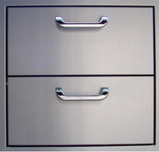 double drawer for grill island installation