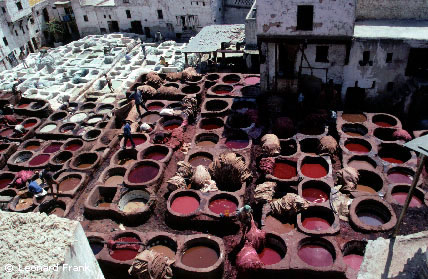 On the other hand if you are in Fez this is difficult to miss, the smell will guide you to the tanneries""