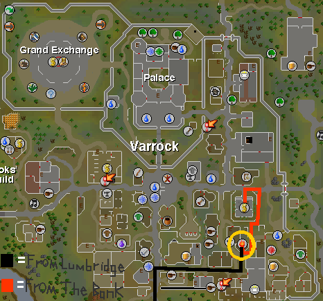 How to get to the Varrock place to mine rune essence. Picture made by: Me, Gaming Guy