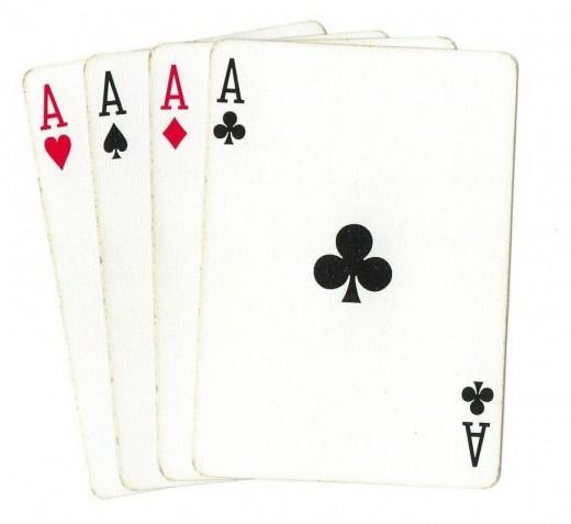 Poker Clip Art - 4 Aces