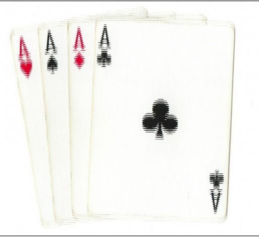 Poker Clip Art - 4 Aces Vibration Effect