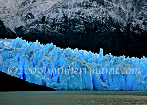 A hike on Glacier Grey is a great way to help understand the reality of global warming.