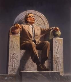 Enthroned Isaac Asimov