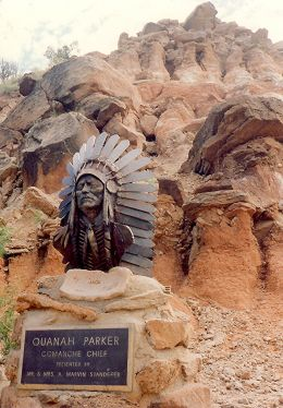In front of the Ampitheatre in Palo Duro Canyon