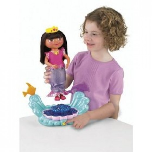 Dora Explorer Sparkle & Twirl Mermaid Doll