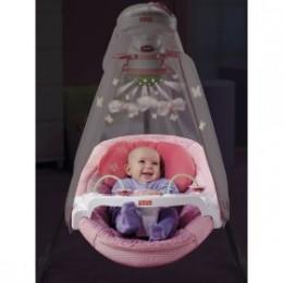 Pink Papasan baby cradle swing