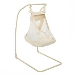 Baby cradle swing made from organic cotton and hemp