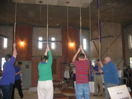 On the cathedral tour, you get to ring the church bells in the ringing room.