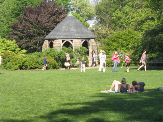 Bishop's Lawn and the Shadow House (gazebo)