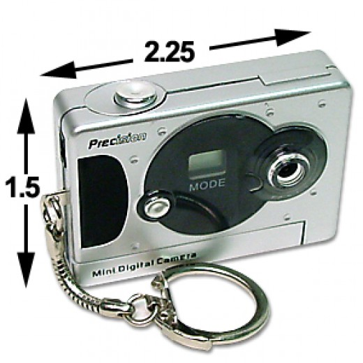 At the size of a business card, a mini digital camera is easy to conceal.