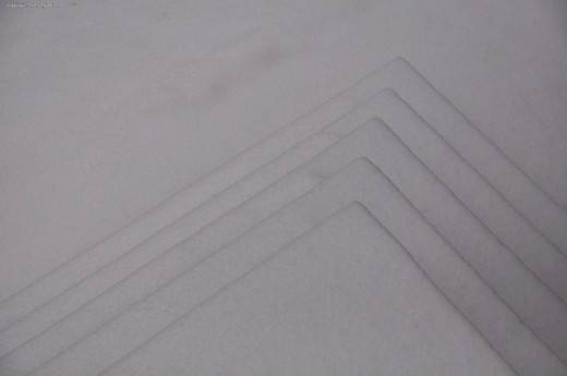 This image might be difficult to see. It's the pattern left by snow-covered steps leading from the deck to the yard.