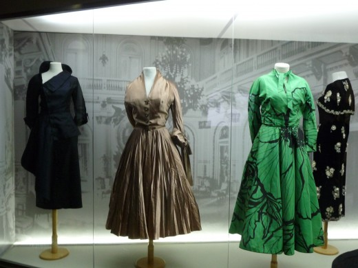 The dresses worn by Eva Peron