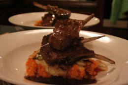 Rack of lamb on mashed... http://www.flickr.com/photos/abstractgourmet/197243081/
