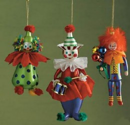 It was easier than I expected to find clown ornaments. Now that's scary!