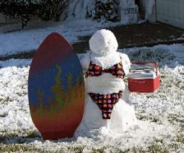 Snow Surfer in Corpus Christi, Texas