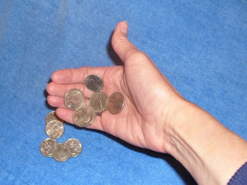 Are you sorting through spare change?