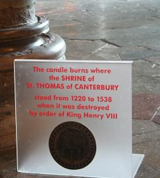 THE SPOT WHERE THOMAS BECKET WAS MURDERED