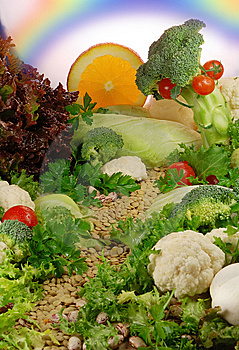 Eating healthy is important.  Fresh fruit, vegetables  and  assorted nuts provide necessary nutrients.
