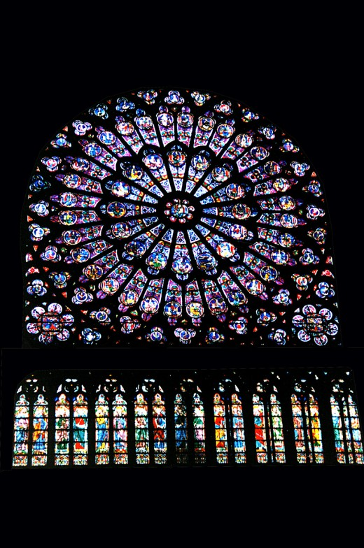 NOTRE DAME CATHEDRAL STAINED GLASS