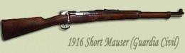 Original Mauser shortened barrel Guardia rifle, made for them specially...