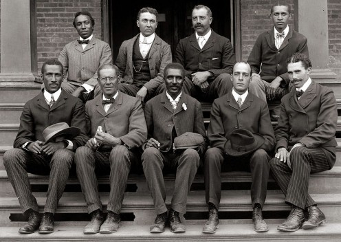 George Washington Carver (front row, center) with other staff personnel of Tuskegee Institute.