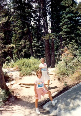 My mother, niece and I start the hike up to Hidden Falls